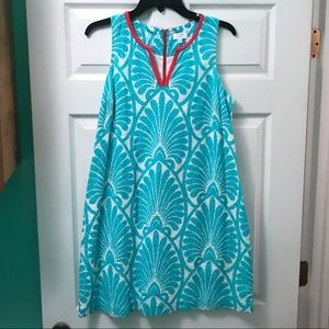 Crown & Ivy Aqua and Coral Beachside Dress